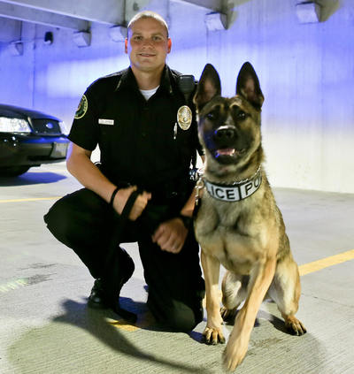 K-9 officer with his dog/partner