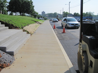 Photo of sidewalk after repairs made
