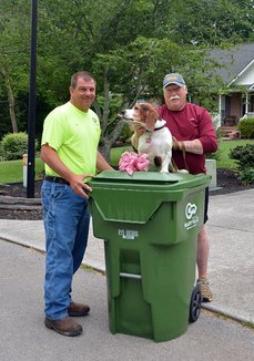 Photo of new garbage can delivery