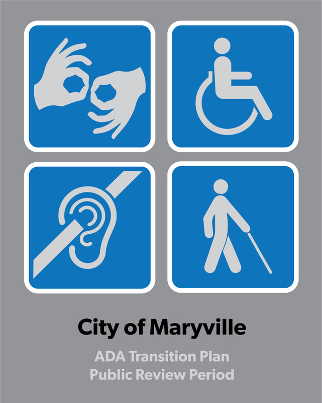 Picture of international symbols for disabilities titled