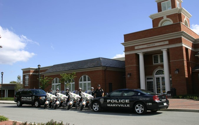 MPD Officers in front of the Municipal Center
